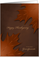 Thanksgiving to Grandparents - Warm Autumn Leaves card
