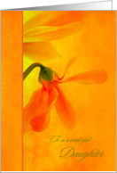 For Daughter Birthday Glowing Orange Flowers card