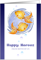 Happy Norooz - From Both of Us - Goldfish and Bubbles card