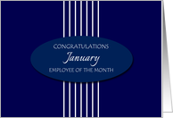 Congratulations Employee of the Month January - White Stripes card
