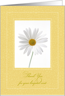 Thank You for Hospital Visit, Daisy card