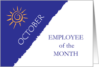 Employee of the Month October card