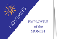 Employee of the Month November card