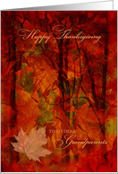 Thanksgiving for Grandparents Autumn Foliage card