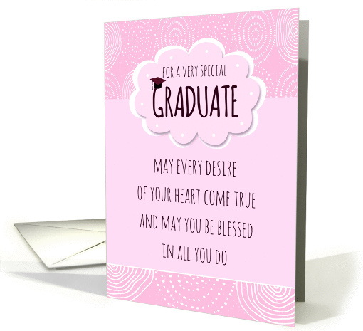 Girly Pink Graduate Graduation Congratulations card (1377836)