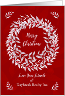 Christmas from Business Custom Business Name Pomegranate Wreath card