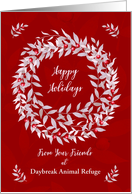 Happy Holidays from Business Custom Business Name Pomegranate Wreath card