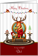 Christmas for Dad The Buck Stops Here Holiday Reindeer card