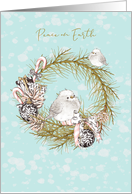 Christmas Peace on Earth Little Birds card