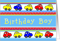 Birthday Boy Cars and Stars card