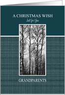 Christmas Wish for Grandparents ~ Black and White Treescape card