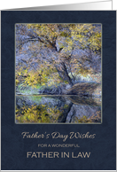 Father's Day For Father in Law ~ Trees Reflection on the Water card
