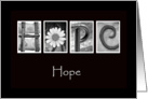 Hope - Alphabet Art card