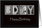 Happy Birthday - Alphabet Art card
