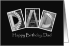 Dad - Happy Birthday - Alphabet Art card