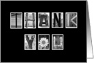 Business - Thank You - Alphabet Art card