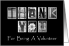 Thank You Volunteer - Alphabet Art card