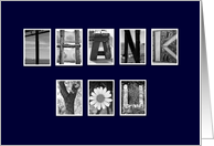Administrative Professionals Day - Thank You - Navy Blue card