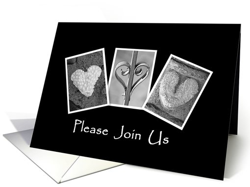Valentine's Day - Party Invitation - Hearts - Alphabet Art card