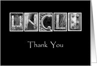 Uncle - Thank You - Alphabet Art card