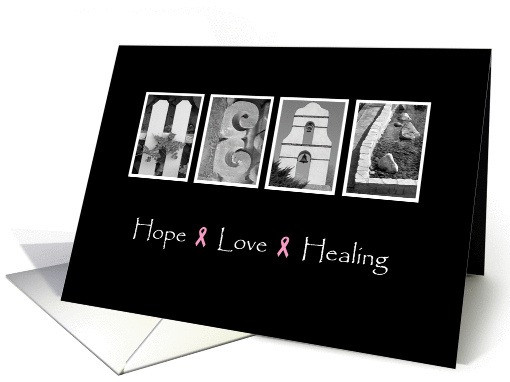 Recovery from Cancer - Hope Love Healing - Alphabet Art card (946605)