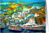 Catalina Island Blank Note Card Painting card