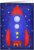 Rocket Ship Birthday card