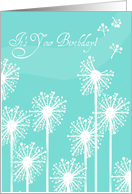 No Happy Birthday Wishes for You! White Floral Silhouette card