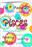 Happy Birthday Pisces sign zodiac characteristics! card