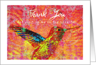 Thank you for visiting me in the hospital! card