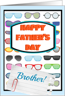 Happy Father's Day Brother, cool sunglasses! card