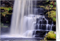 Colour dreamy waterfall - Uldale Force Cumbria blank card