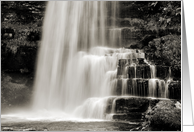 Sepia dreamy waterfall - Uldale Force Cumbria blank card
