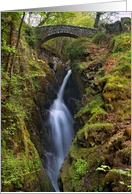 The Lake District - Aira Force, Waterfall - Blank card