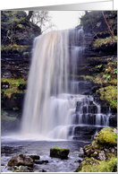 Uldale force Waterfall, The Howgill Fells, The Yorkshire Dales - Blank card