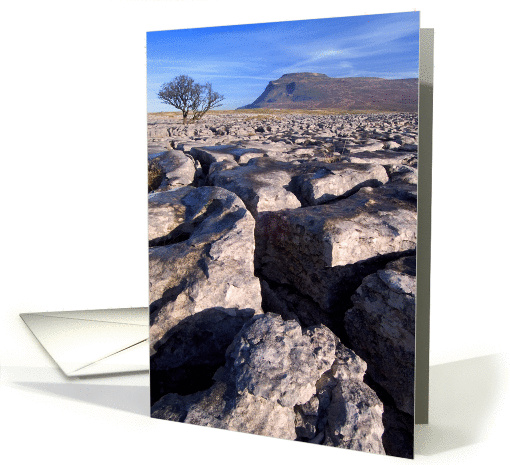 Ingleborough from White Scars, Yorkshire Dales - Blank card (877481)
