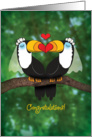 Lesbian Wedding Congratulations-Toucan Illustration card