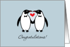 Gay Penguins Wedding Congratulations card