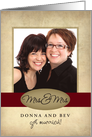 Mrs. & Mrs. Photo Card Wedding Announcement card