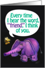 Friendship-Bee and Elephant-Greeting Card