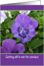 Funny-Pansy-With-Face-Birthday Card