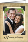 Vintage Thank You Picture Perfect Wedding Photo Card