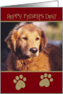 Golden Retriever Happy Father's Day Card