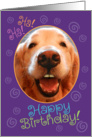 Funny Laughing Golden Retriever Birthday Card