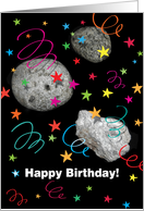 Party Your Asteroids Off Birthday Card