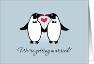 Gay Penguins Wedding Announcement card