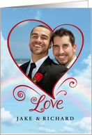 Gay Civil Union Announcement - Love is in the Air card