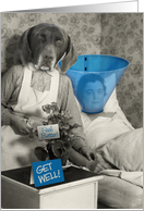 Funny-Get Well-Vintage-Dog-Nurse-Patient Card