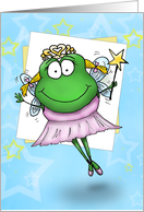 Thank You Frog Fairy card