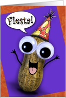 Fiesta Peanut Birthday Card Spanish card